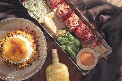 تنوع غذایی در رستوران ایرانی حس توران | رستوران حستوران