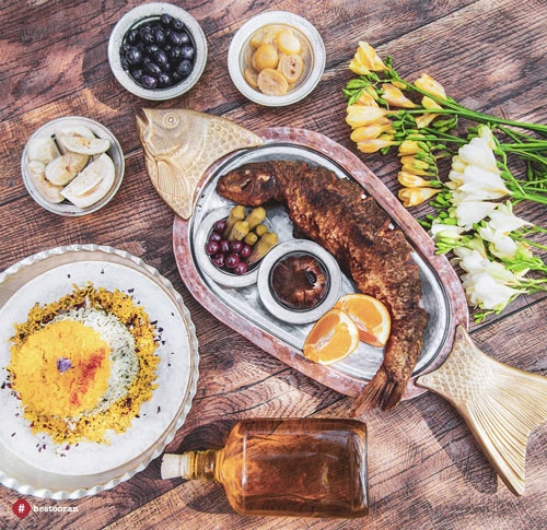 ظروف خاص رستوران خاص و زيباي ايراني | حستوران